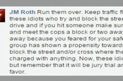 Facebook Post on how to run people cover, allegedly by cop