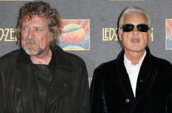 Robert Plant, left, and Jimmy Page via Featureflash Photo Agency and Shutterstock