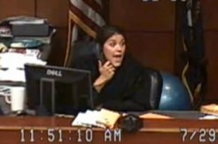 Judge Amber Wolf screengrab via Jefferson County video, 2
