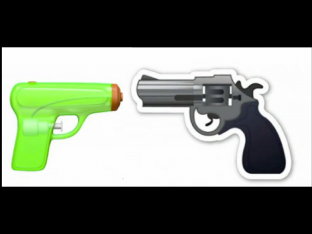 gun emoji via apple