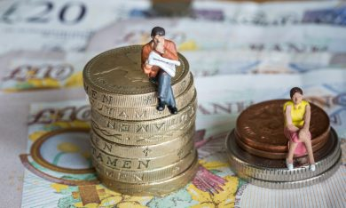 equal pay via ian johnston/shutterstock