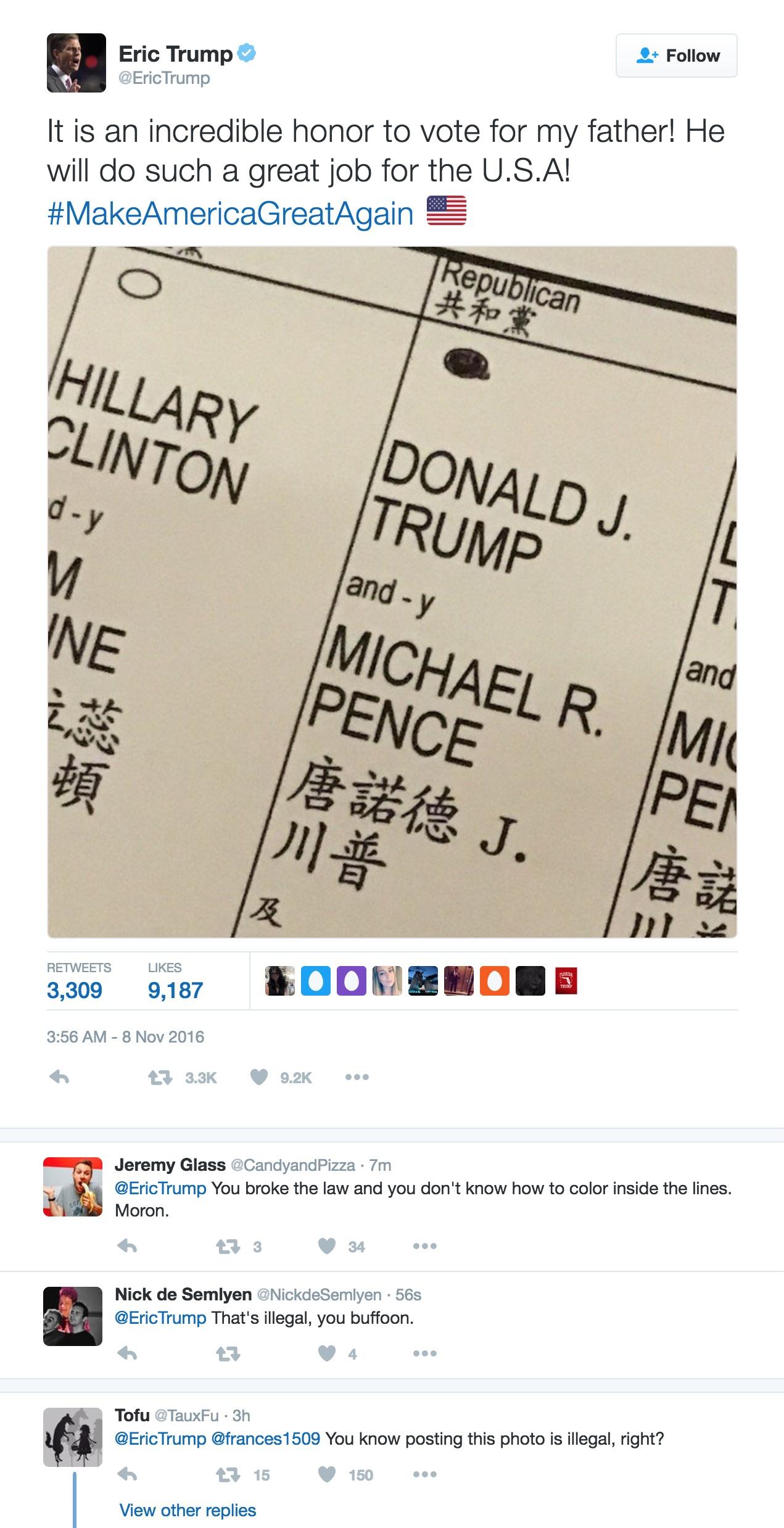 eric-trump-ballot-selfie-tweet