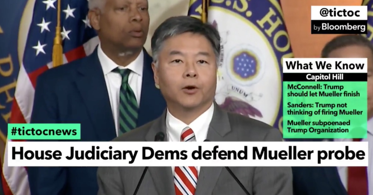 Ted Lieu Donald Trump consciousness of guilt House Judiciary Committee Robert Mueller