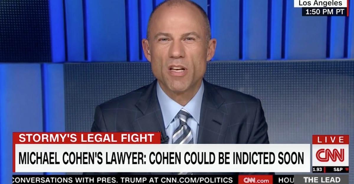 Michael Avenatti Donald Trump Michel Cohen flip tweets