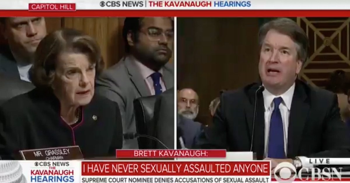 brett kavanaugh dianne feinstein showdown