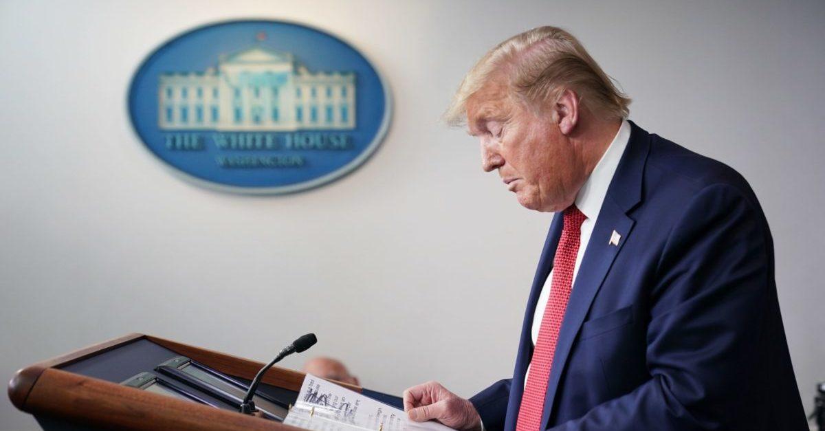 Donald Trump Coronavirus Briefing Reopen Country America
