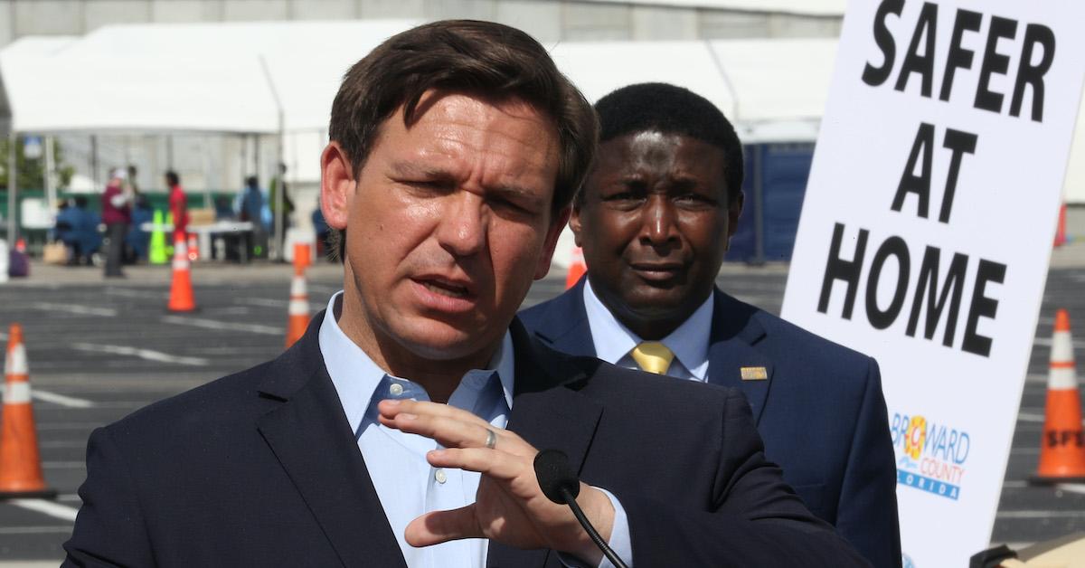 Florida Governor Ron DeSantis Holds Press Conference On State's Coronavirus Response
