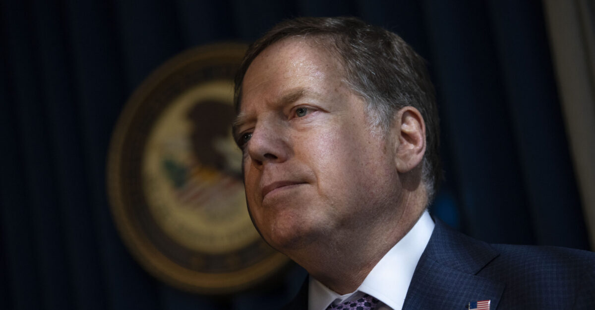NEW YORK, NY - OCTOBER 10: Geoffrey Berman, U.S. Attorney for the Southern District of New York, attends a press conference at the U.S. Attorneys office of Southern District of New York on October 10, 2019 in New York City. Lev Parnas and Igor Fruman, associates of President Trumps personal lawyer Rudy Giuliani, have arrested on campaign finance charges.