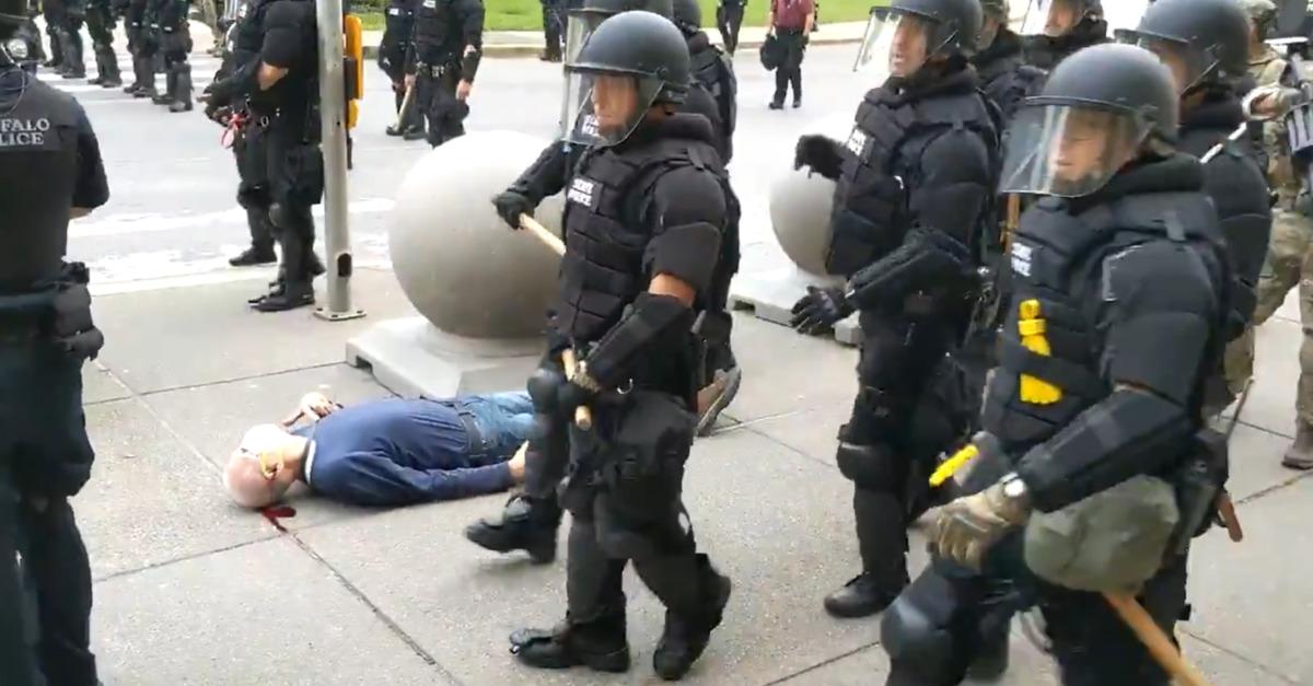 Buffalo Protester Martin Gugino Bleeding
