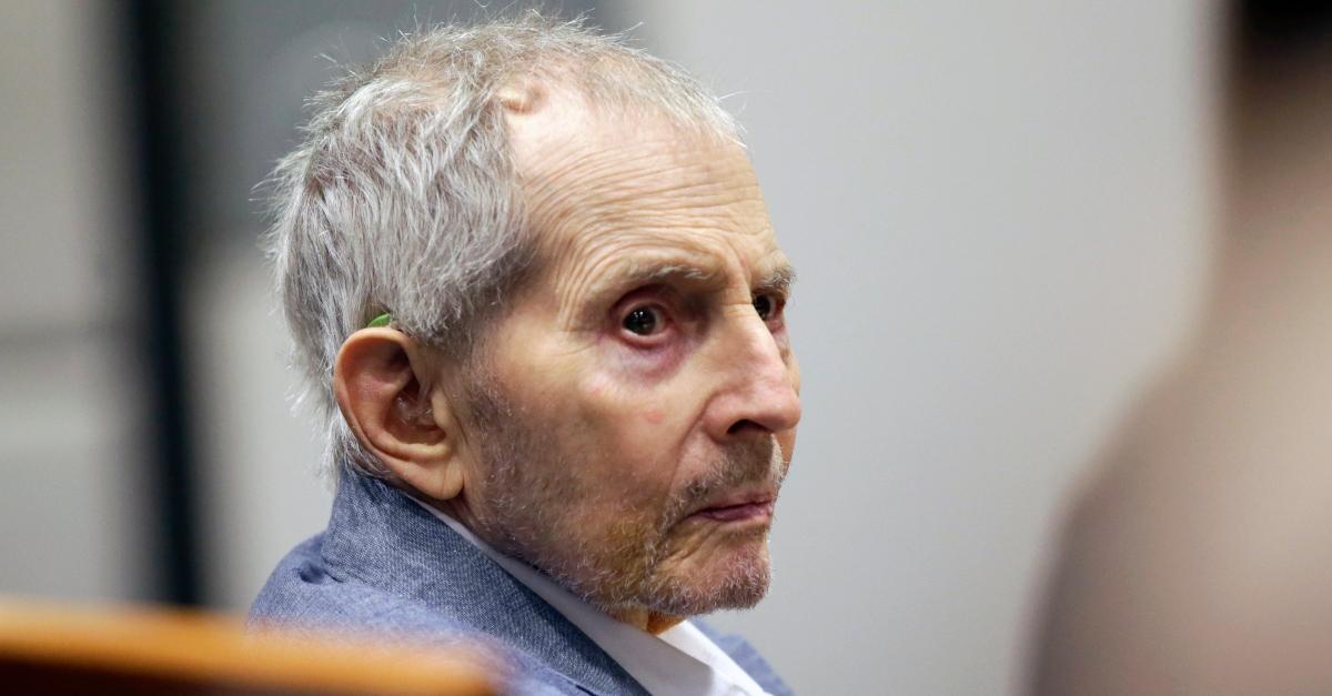 Robert Durst in court.
