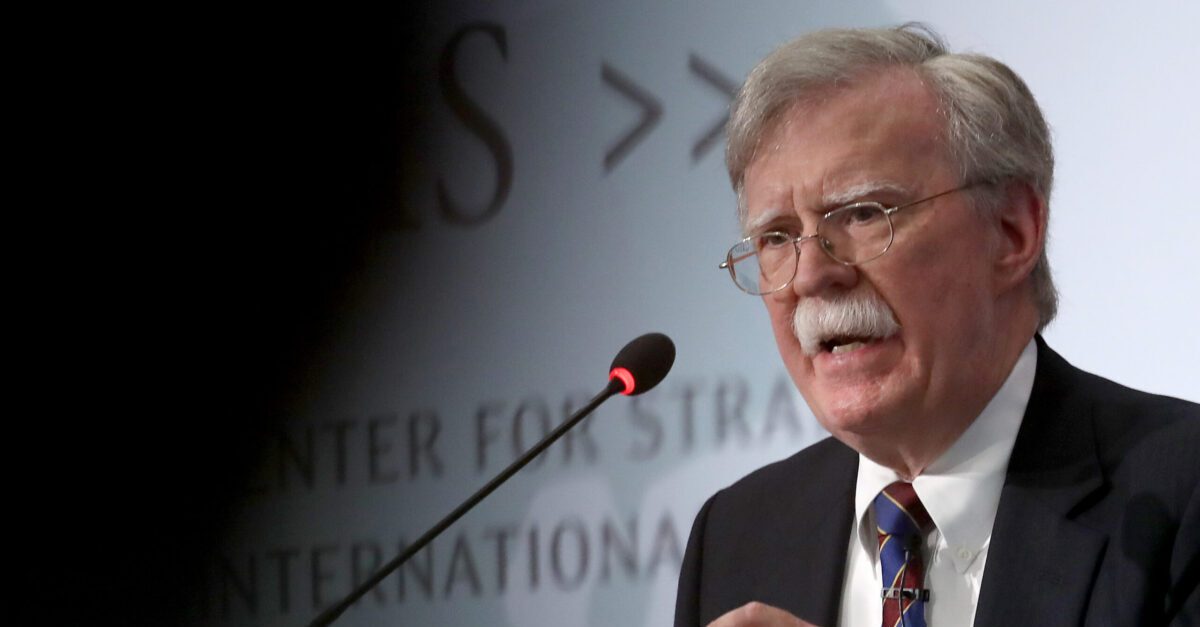 "WASHINGTON, DC - SEPTEMBER 30: Former U.S. National Security Advisor John Bolton speaks at the Center for Strategic and International Studies September 30, 2019 in Washington, DC. Bolton spoke on the topic of , ""Navigating Geostrategic Flux in Asia: The United States and Korea."""