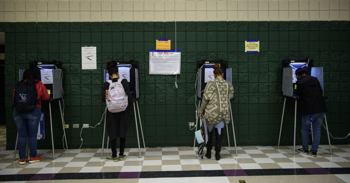 Voters vote in North Carolina