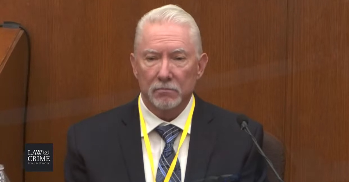 Barry Brodd, defense expert witness in the trial of Minneapolis police officer Derek Chauvin.