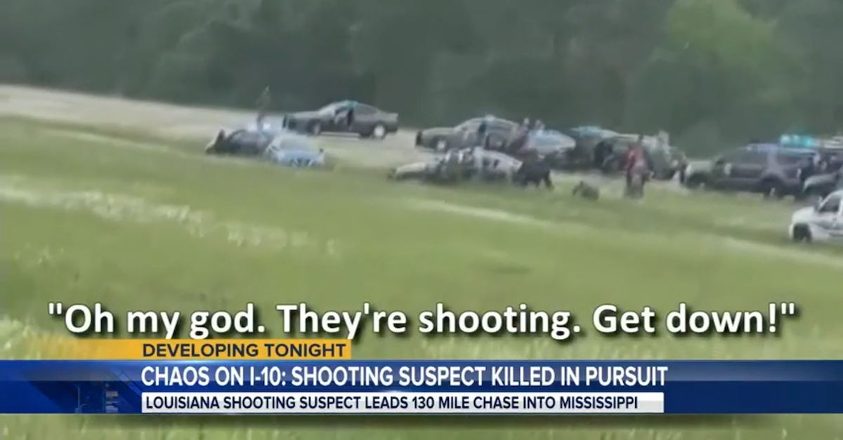An image taken from witness video shows the scene as shot rang out.
