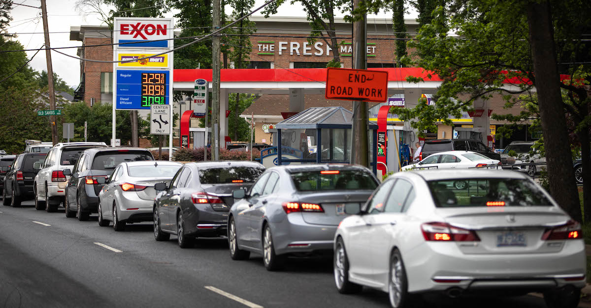 Gas lines after Colonial Pipeline hack