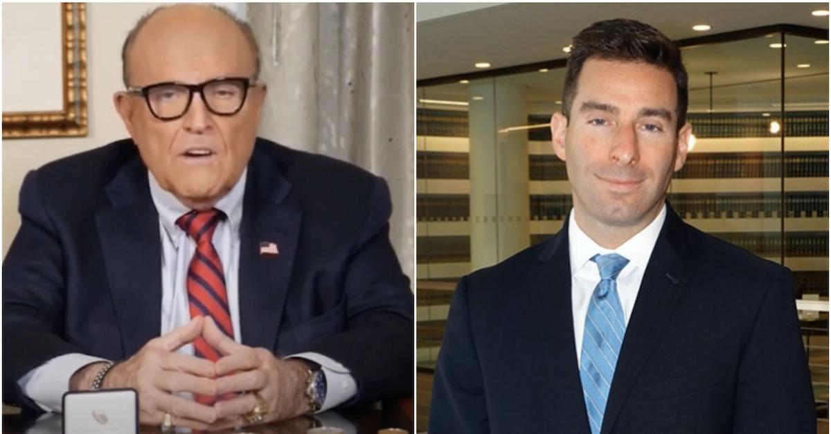 Rudy Giuliani and CNN senior legal analyst Elie Honig