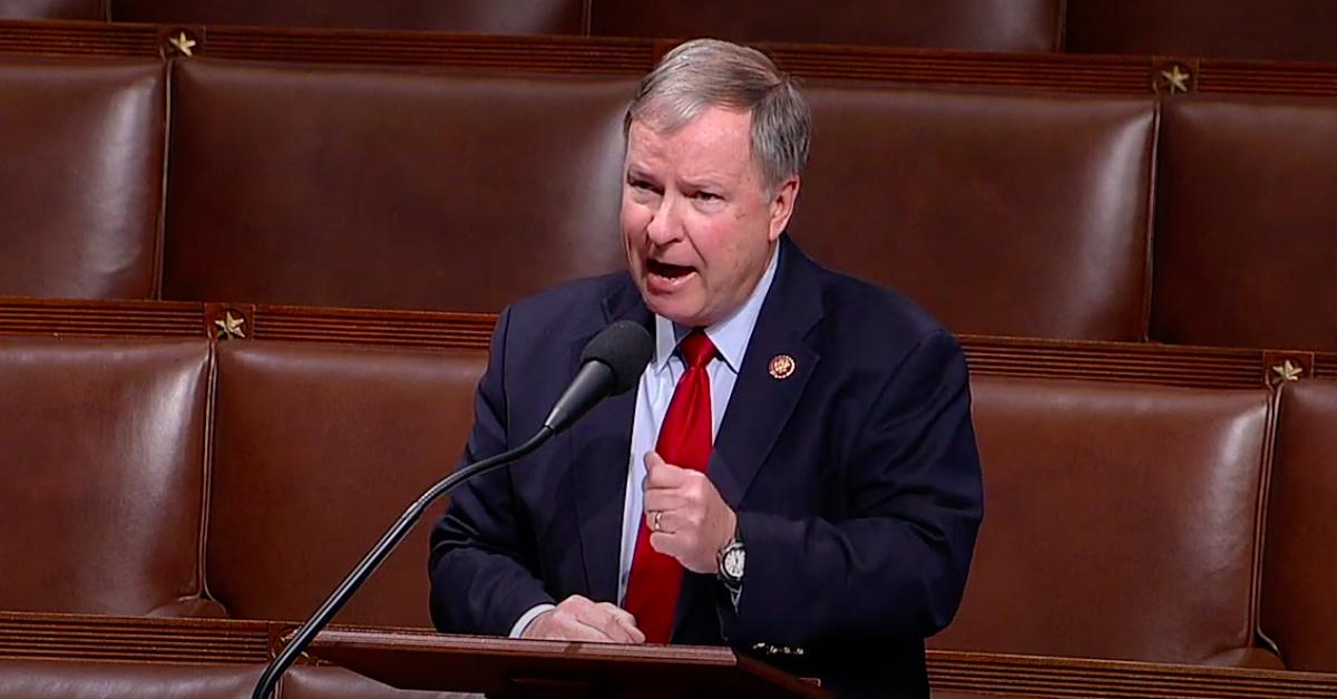Rep. Doug Lamborn (R-Colo.) speaking on the floor of Congress.