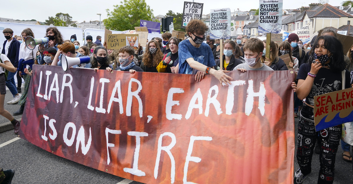 Climate crisis protests at G7 Summit