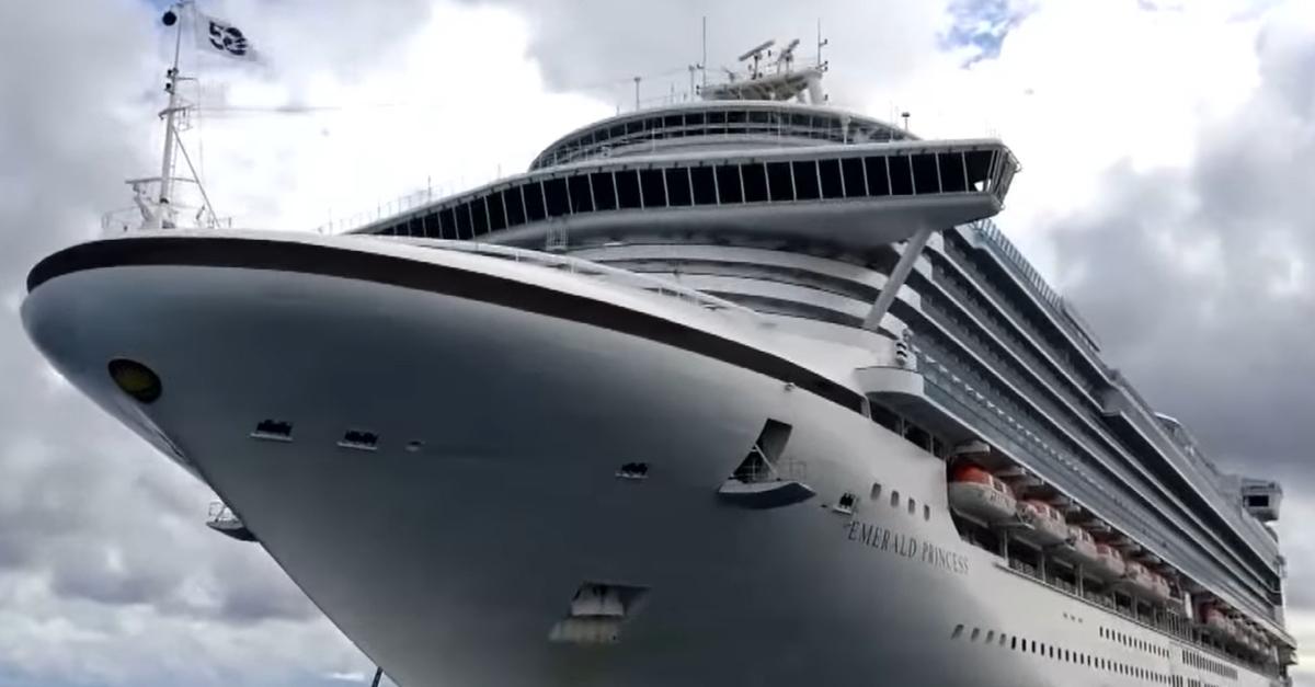 The Emerald Princess cruise ship.