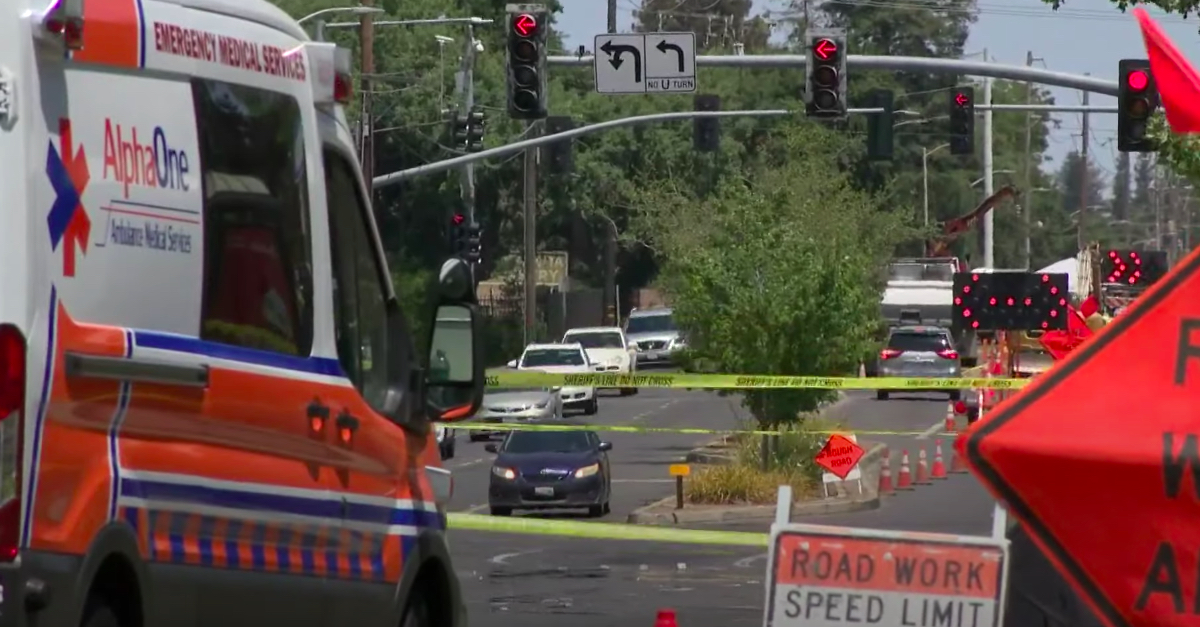 First responders on the scene after a pickup truck driver's rampage left one dead and three injured.