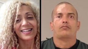 America Thayer (left) is seen in a Facebook image. Alexis Saborit (right) is seen in a Scott County, Minn. jail booking photo.