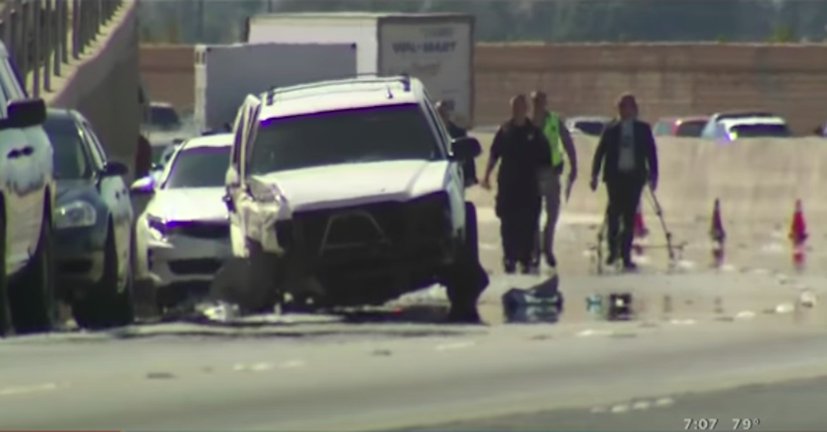 Photo of the Crashed Chevy Avalanche driven by Luis Mendoza