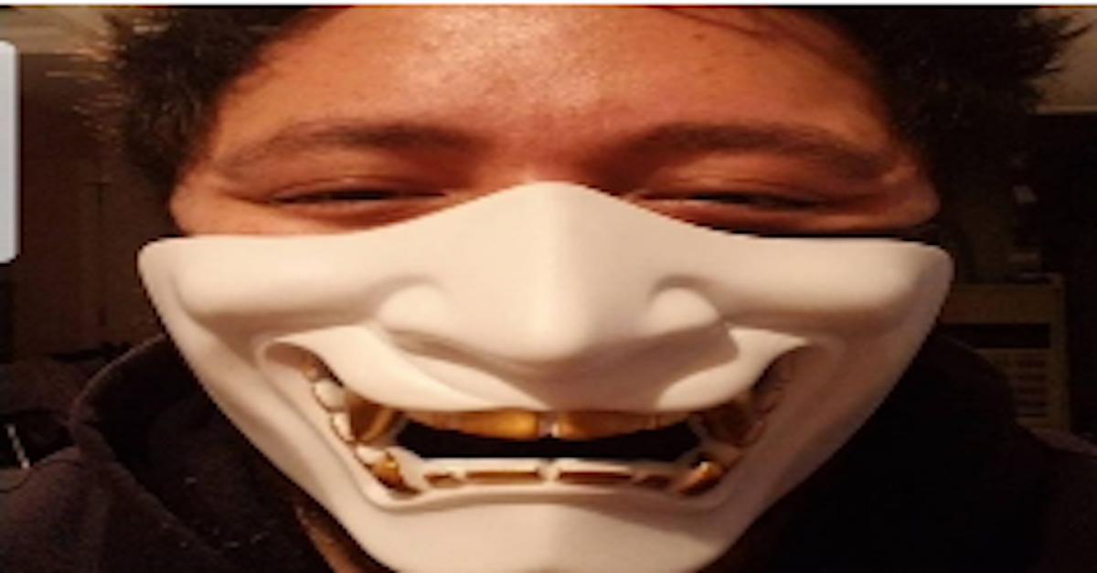 Fi Doung wearing Japanese-style face mask courtesy of FBI