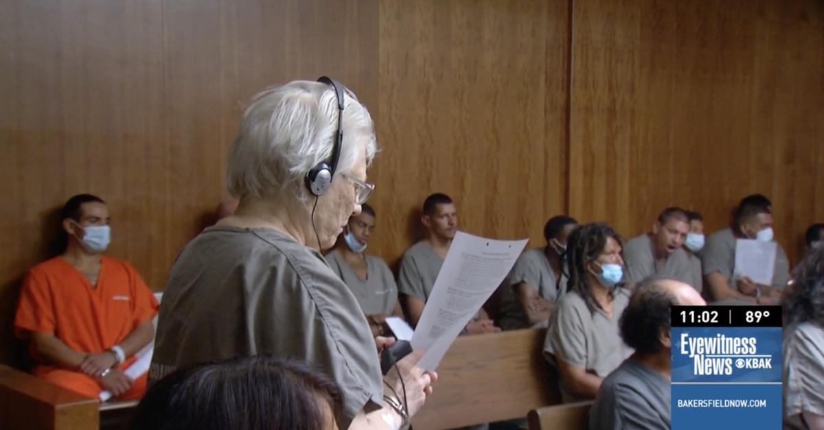 Sandra Bonertz appears in court