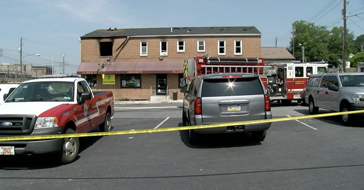 An image of the burned apartment after a fire that took four lives