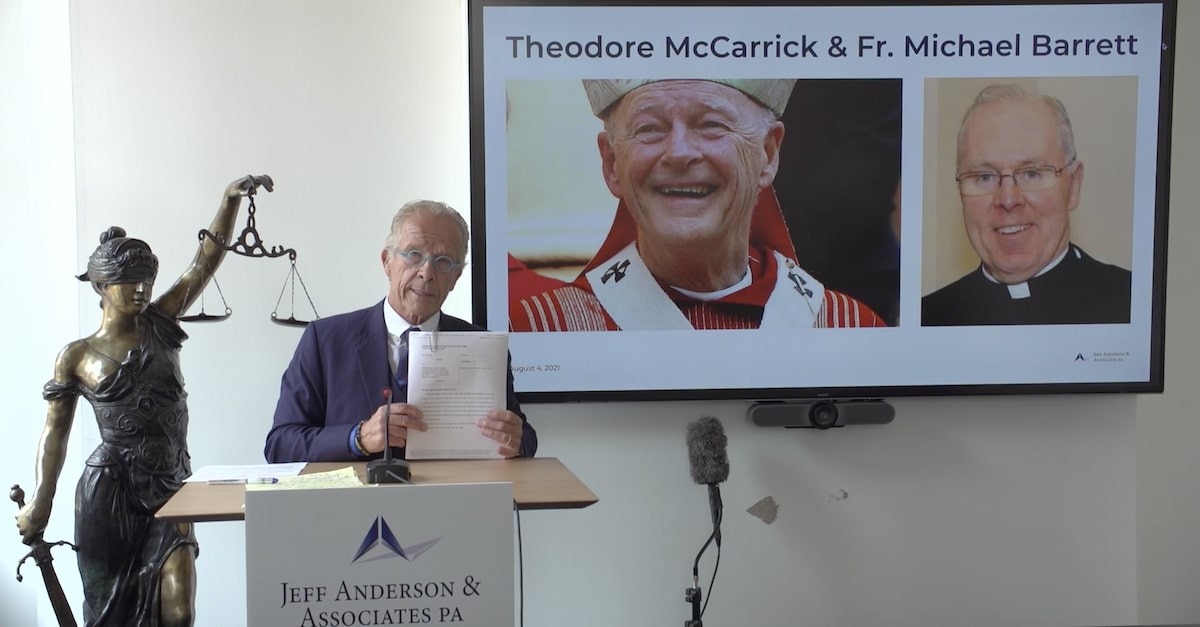 Lawyer announces lawsuit accusing defrocked Cardinal Theodore McCarrick and Opus Dei priest