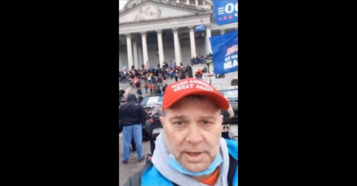 An evidence photo shows Robert Maurice Reeder in Washington, D.C., on January 6, 2021.
