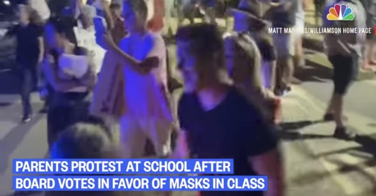 Tennessee parents protest mask mandates