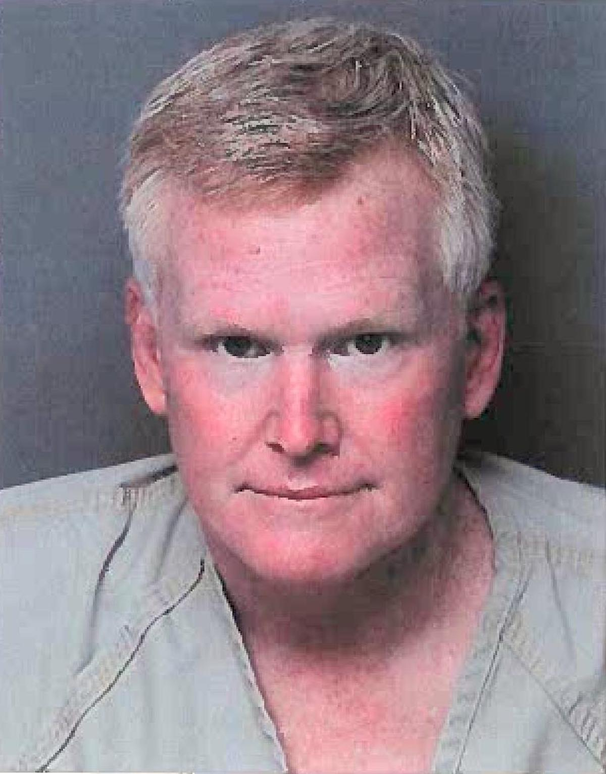 "Richard Alexander ""Alex"" Murdaugh appears in a jail mugshot taken Thursday, Sept. 16, 2021 in Hampton County, S.C."