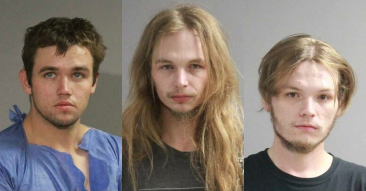 Brycen Scofield, Dylan Suede McLeod, and Austin Michael McLeod appear in mugshots