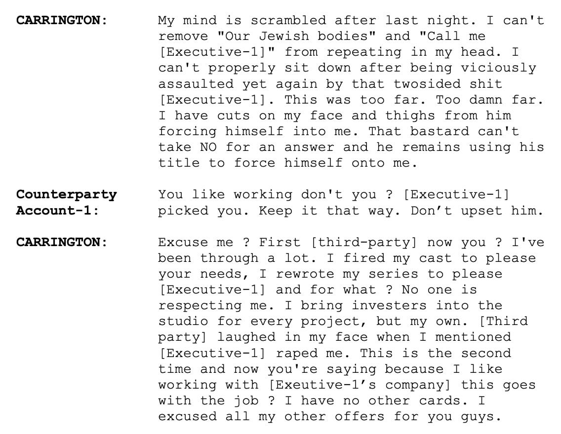 Rovier Carrington emails 2