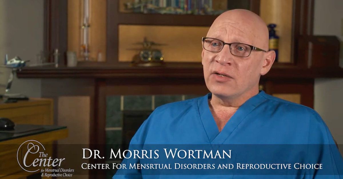 Dr. Morris Wortman appears in a screengrab taken from a YouTube promotional video.