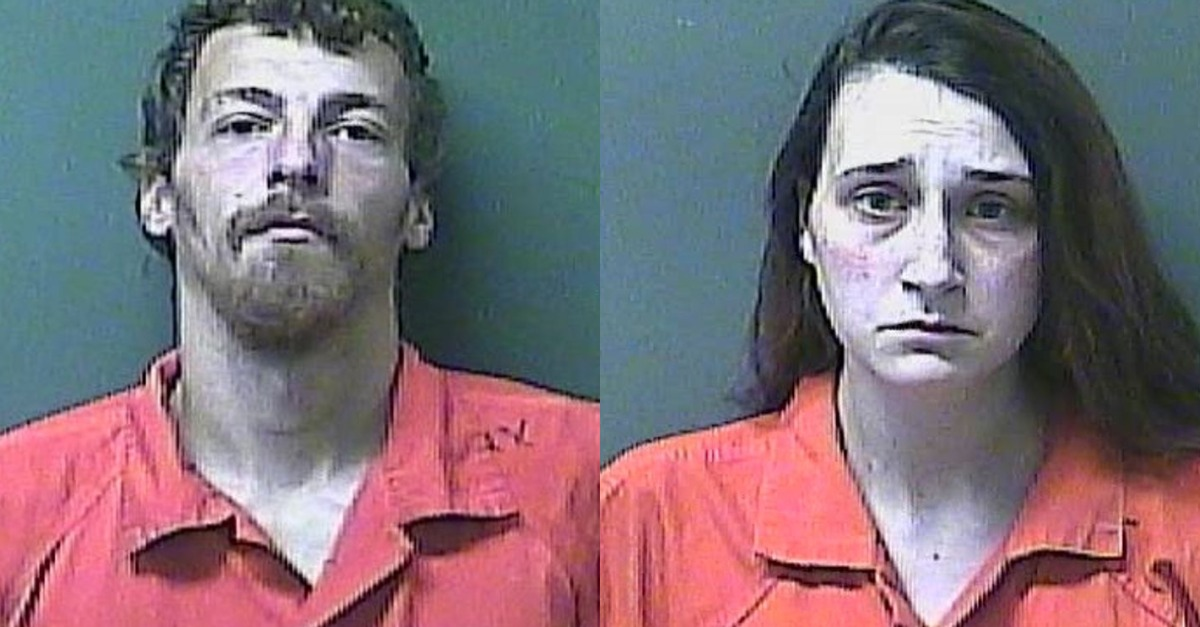 Alan Morgan and Mary Yoder appear in mugshots