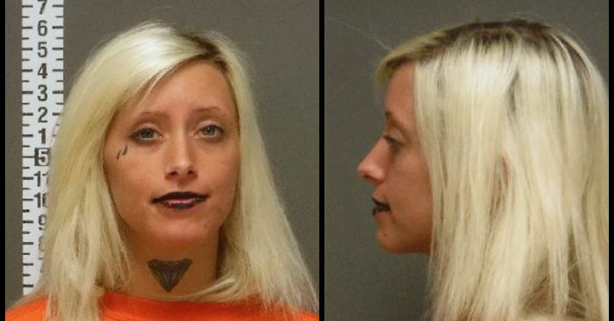 Blair Rebecca Whitten appears in a mugshot taken by the Cass County, N.D. Jail.