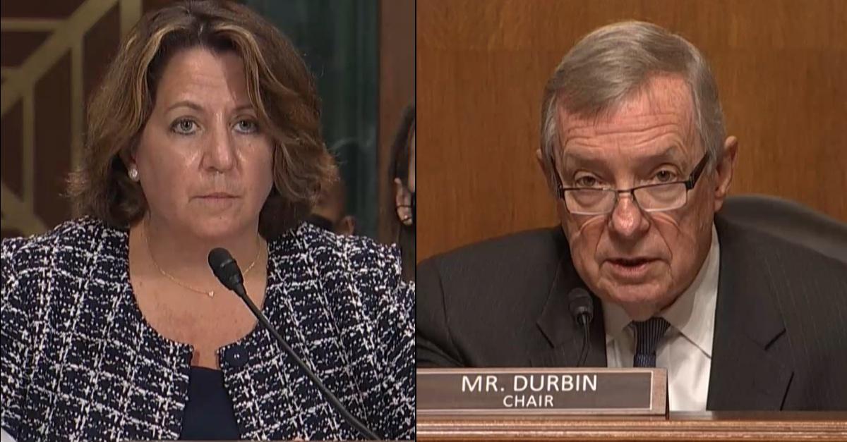 Sen. Dick Durbin (D-IL) and Deputy Attorney General Lisa Monaco