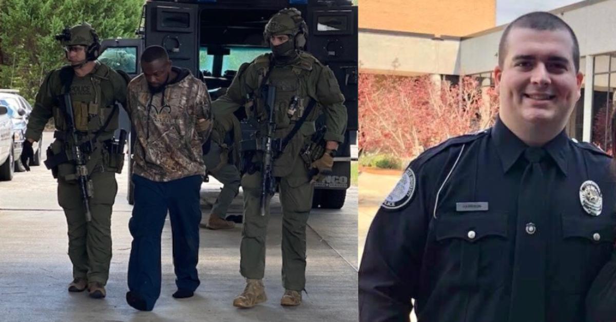 Damien Ferguson arrest, and picture of Officer Dylan Harrison