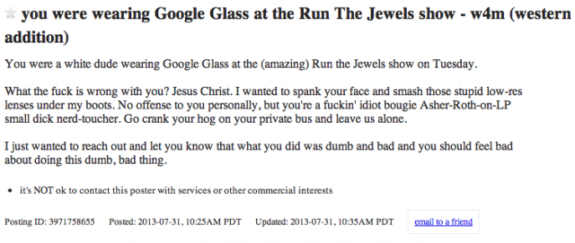 google glass missed connection