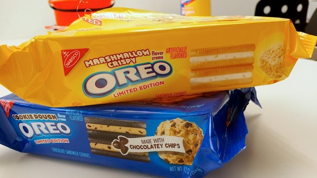 Oreo Marshmallow and Cookie Dough Flavors