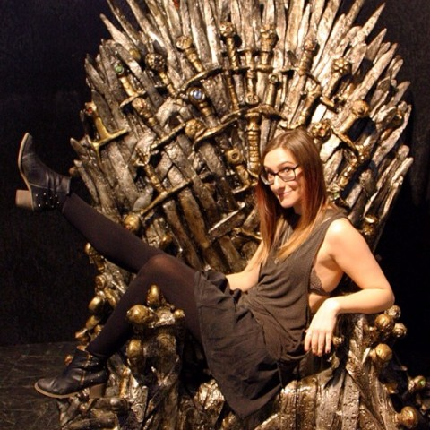 Sam playing the game of thrones.