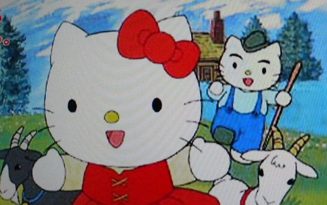 Hello kitty with a mouth