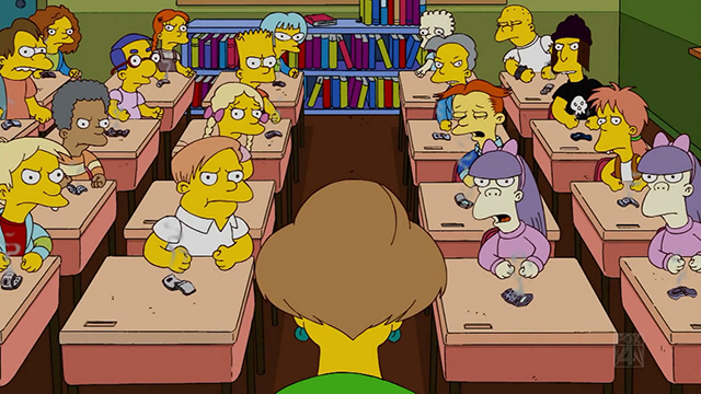 angry students simpsons