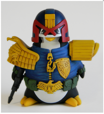 Judge Dredd Penguin toy from Blind Mouse Toys