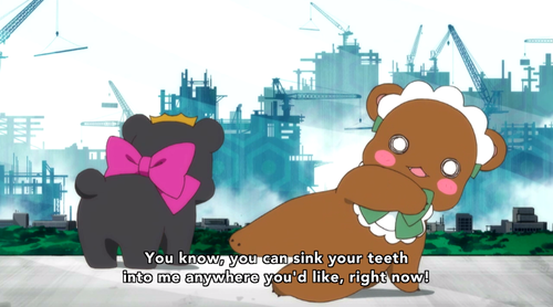 If I had to describe Yurikuma in a single screenshot, this is the one I would choose.