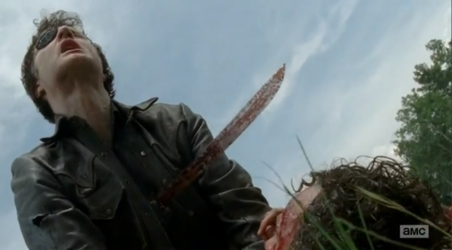 Michonne stabs Governor