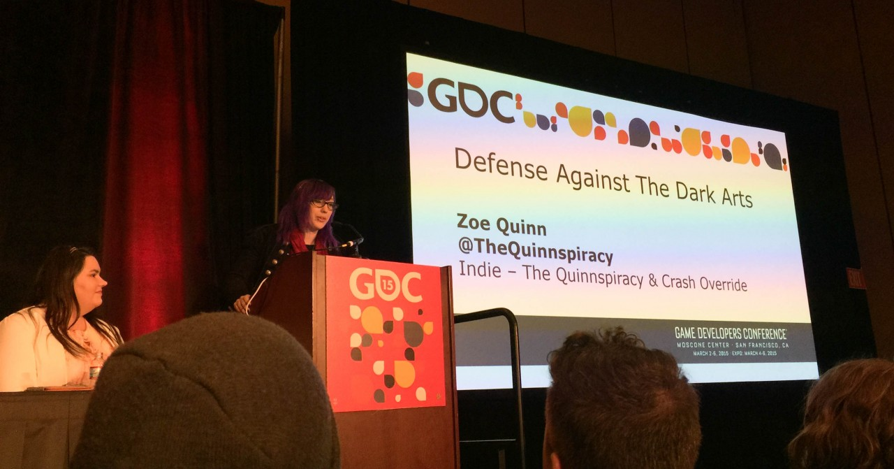 Zoe Quinn, sharing protips on how to best defend against the Voldemort that is GamerGate.