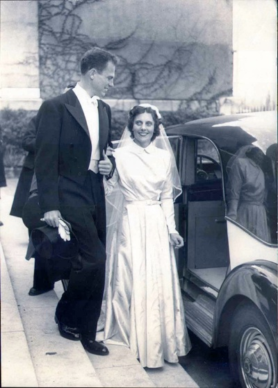 Bryce and Cecile's Wedding, Paris, 1951